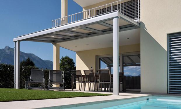 avant toit en verre pour terrasse pergola vitr e installation suisse romande. Black Bedroom Furniture Sets. Home Design Ideas