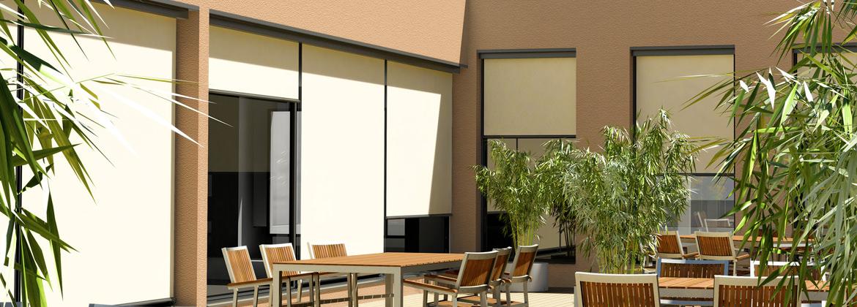 store exterieur vertical excellent paravent extrieur rtractable xcm cru store vertical paravent. Black Bedroom Furniture Sets. Home Design Ideas