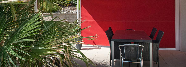store lat ral ext rieur terrasse balcon sur mesure ombres lumi res. Black Bedroom Furniture Sets. Home Design Ideas