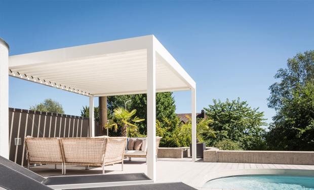 Pergola bioclimatique, Pavillon de jardin, Pavillon extérieur design ...
